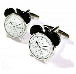the5thl Horloge Réveil Blanc Boutons de manchette Minuteur gemelos No Boîte 011112–2NB de la marque Tailor B image 0 produit