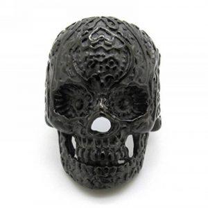 Timelyo® - Bague Ring Chevalière pour Homme Acier Skull Tête De Mort Crâne Squelette Biker - BAGUBIK1 de la marque Timelyo® image 0 produit