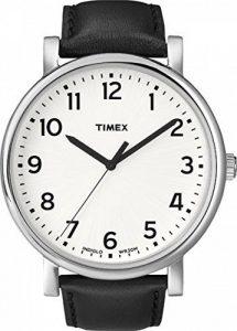 Timex - Unisex - T2N338 - Heritage Easy Reader - Quartz Analogique - Boîtier en Métal - Blanc - Noir - Cuir de la marque Timex image 0 produit