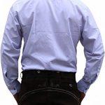 Trachtenhemd, costumes shirt pour Lederhosen costumes en coton brodé Edelweiss Blanc de la marque German Waer image 1 produit