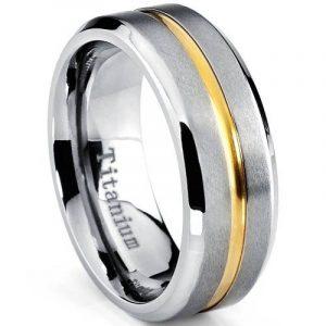 Ultimate Metals Co. Bague de Mariage Plaqué Or Titane Pour Homme, Intérieur Confort 8mm de la marque Ultimate Metals Co. image 0 produit