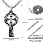 Vnox en acier inoxydable antique en acier inoxydable Collier pendentif en croix croisée celtique irlandaise, chaîne gratuite de la marque Vnox image 1 produit