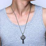 Vnox en acier inoxydable antique en acier inoxydable Collier pendentif en croix croisée celtique irlandaise, chaîne gratuite de la marque Vnox image 5 produit