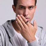 Vnox Hommes Noir Tungstène Carbure Bague de mariage Ring Groove Design 6mm,Or intérieur de la marque Vnox image 4 produit