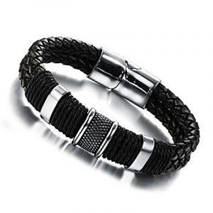 Wowl Mode Multi-Layer en cuir véritable homme Bracelets pour Père Frère Cadeau de la marque Wowl image 0 produit