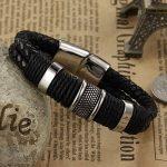 Wowl Mode Multi-Layer en cuir véritable homme Bracelets pour Père Frère Cadeau de la marque Wowl image 5 produit