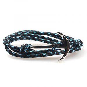 yiran® Poisson plaqué or blanc bracelet fermoir crochet Sailor Anchor coloré sur cordes en nylon de la marque Yiran image 0 produit