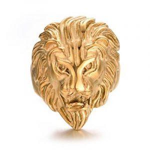 Yoursfs Bague lion Or jaune Homme Acier inoxydable pour Hommes ou Garçons comme cadeau d'anniversaire ou Fête de la marque Yoursfs image 0 produit