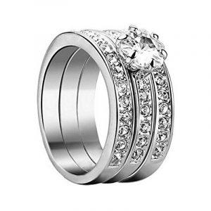 yoursfs Classics Mix assortie mariage bague de fiançailles 3en 1Serti Oxyde de Zirconium Plaqué Or 18K Diamant Bijoux de la marque Yoursfs image 0 produit