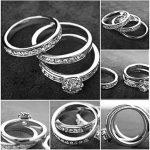 yoursfs Classics Mix assortie mariage bague de fiançailles 3en 1Serti Oxyde de Zirconium Plaqué Or 18K Diamant Bijoux de la marque Yoursfs image 5 produit