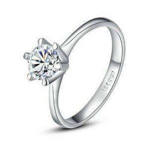 yoursfs classique plaqué platine 1Faux Diamant Mariage Fiançailles Anneaux de la marque Yoursfs image 0 produit