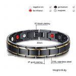 Zamac pour homme en titane magnétique Santé Bracelet en cuir velours noir Boîte cadeau + Gratuit Lien Outil de démontage de la marque ZAMAC image 1 produit