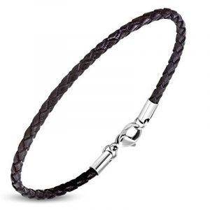Zense - Bracelet homme en cuir fin de couleur marron ZB0241 de la marque ZENSE image 0 produit