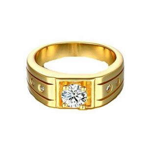 Zirconium AAA perceuse 18 K plaqué or diamant bague bijoux, femmes hommes de la marque YiLuFanHua image 0 produit